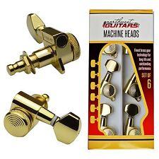 Sperzel Style Locking Machine Heads 6 in line for Strat/Tele - Gold