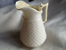 BELLEEK Creamer, Coper Manach Ireland, #0857 Yellow luster, Green Mark