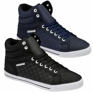 Mens-Hi-Tops-Trainers-DUNLOP-Ankle-Flat-Pumps-Quilted-Fashion-Boots-Shoes-Size