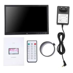 17Zoll Digitaler Fotorahmen Bilderrahmen USB Mit Fernbedienung Tragbar DE