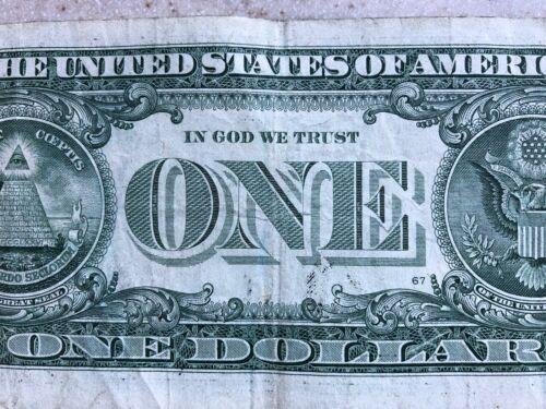 """TRINARY-FIVE of a KIND SOLID TRAILING QUAD /""""9999/"""" $1 Dollar Bill S# B38939999F"""