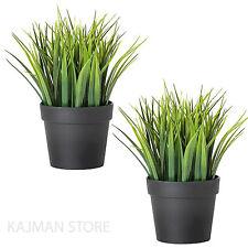 GREEN Grass PIANTE IMPIANTO CASA GIARDINO fasulli in vasi artificiale 20cm IKEA fejka x2