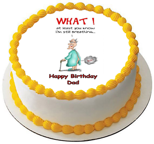 Happy Birthday Old Man 75 PREMIUM Edible RICE Cake Topper CAN