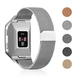 For-Fitbit-Ionic-Band-Milanese-Loop-Magnetic-Clasp-Metal-Strap-Stainless-Steel
