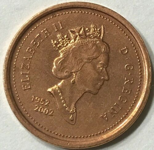 2002 1 Cent Canada Zinc Nice Uncirculated Canadian Penny Non Magnetic