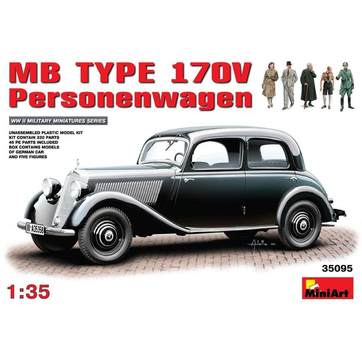 MiniArt 35095 MB Type 170 V Personenwagen 1 35 scale plastic model kit
