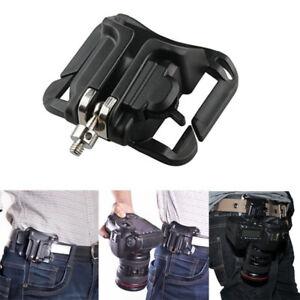 Quick-Release-Camera-Waist-Strap-Belt-Buckle-Holster-Mount-Hanger-Clip-New