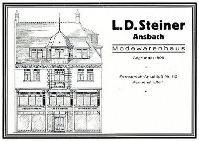 Modehaus Steiner Ansbach Reklame Von 1927 Kannenstraße Werbung * Um Zu Helfen, Fettiges Essen Zu Verdauen