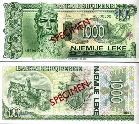 Albania Banknote Specimen Paper Money, 1000 leke 1994, P 58, UNC