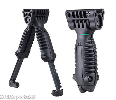 Tactical Foldable Foregrip Bipod Picatinny Rail Quick Release Mount for Rifle #7