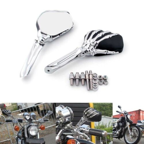 Skeleton Skull Hand Claw For Honda Shadow 750 Motorcycle Side Mirror 8mm 10mm US