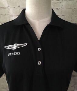 NIKE-GOLF-DRI-FIT-Black-Polo-Genesis-Women-s-Shirt-Size-Medium