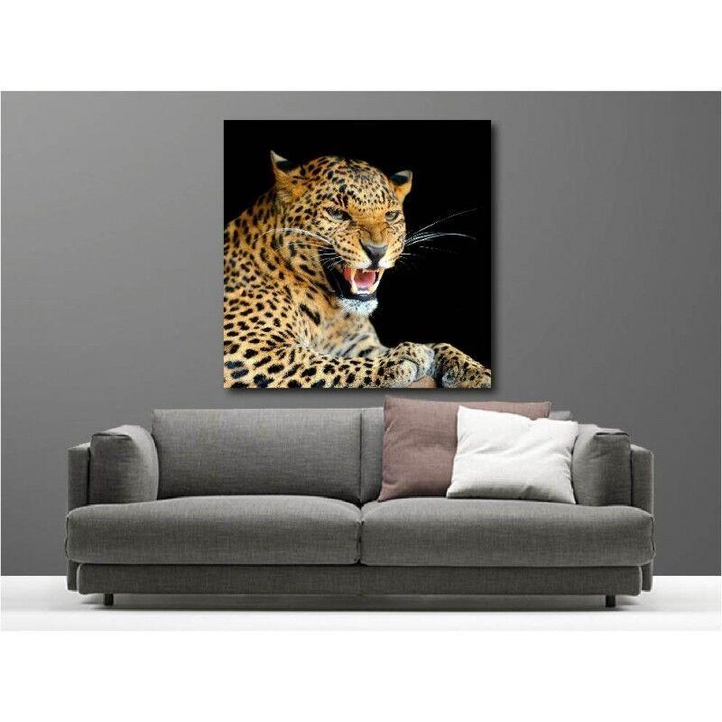 Gemälde Stoff Deko Quadratisch Jaguar 110146616