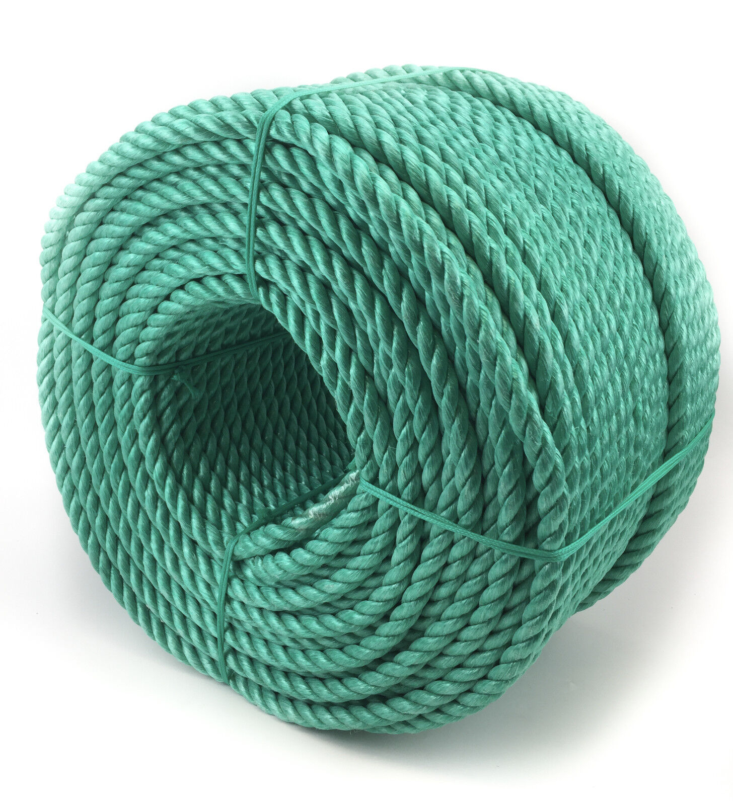 18mm Green Polypropylene Rope x 40 Metres, Poly Rope Coils, Cheap Nylon Rope