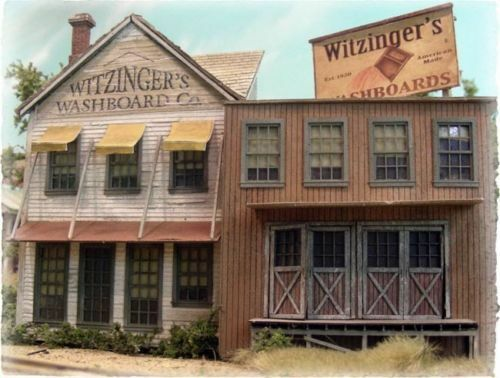 BAR MILLS BUILDINGS 172 HO Witzinger's Washboard Company Model Railroading Kit