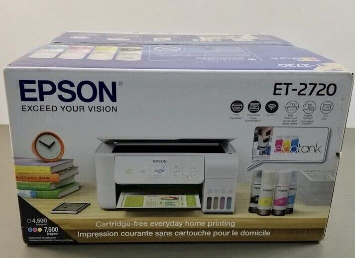 ❄️EPSON ECOTANK ET-2720 Wireless All-In-One Supertank Color Printer NEW SEALED!❄. Buy it now for 254.88
