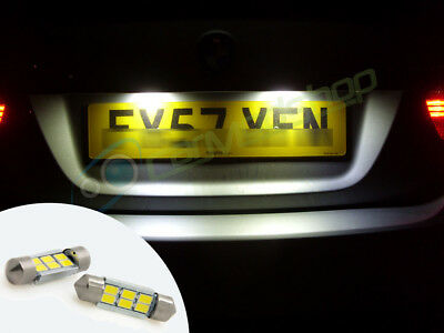 2x MG ZT-T Bright Xenon White LED Number Plate Upgrade Light Bulbs