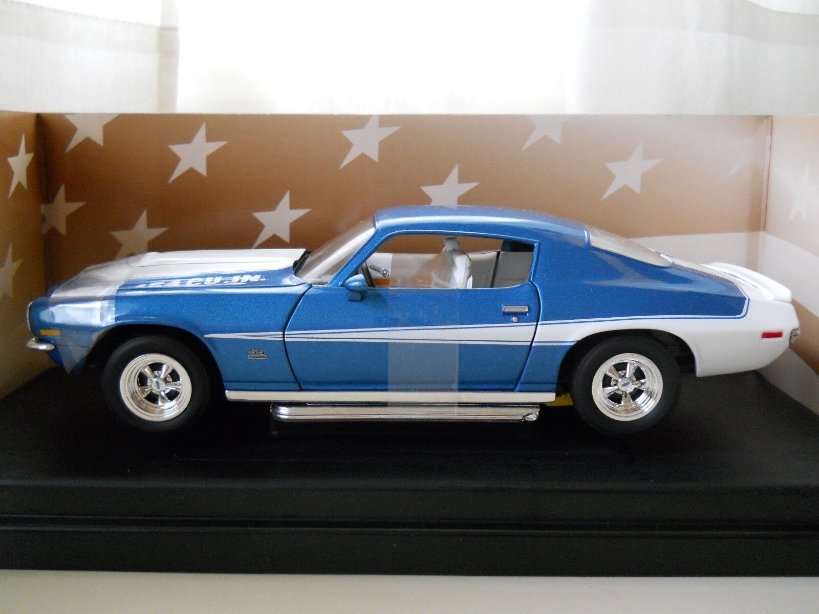 AMERICAN MUSCLE - RARE - 1970 BALDWIN MOTION CHEVROLET CAMARO - 1 18 DIECAST
