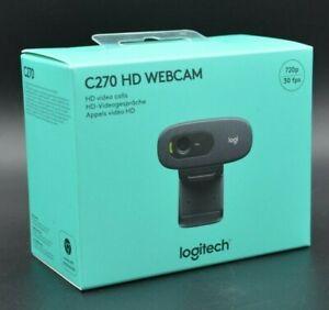 LOGITECH C270 Webcam HD 720p Home Office Video Konferenz Zoom Skype LIEFERBAR