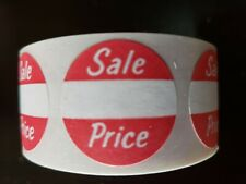 500 SALE PRICE Labels Permanent Self Adhesive 25x51mm Promotional Price Label