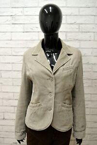 Giacca-Donna-REPLAY-Taglia-L-Blazer-Giubbino-Jacket-Woman-Cotone-Grigio-Costine