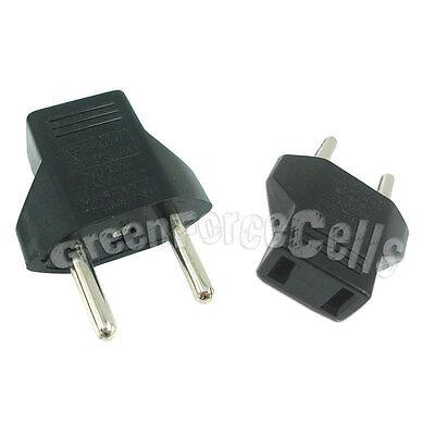 1 pc US USA to EU Euro Europe AC Power Plug Travel Adapter Converter
