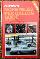 Chilton's More Miles Per Gallon Guide, How To Improve Gas Mileage Book, Chilton