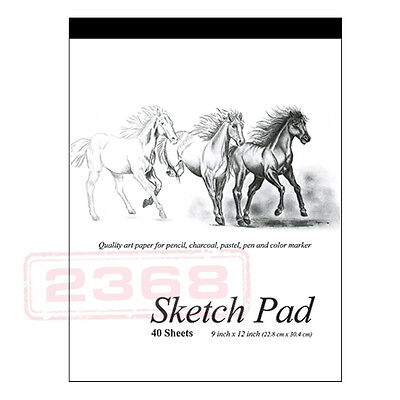 "40 Sheets  premium quality Sketch Book Paper Pad 9"" × 12"" (22.8cm × 30.4 cm)"