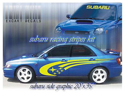 Subaru Rally Racing Side Stripes Graphics Impreza STI WRX 555 Universal Decals