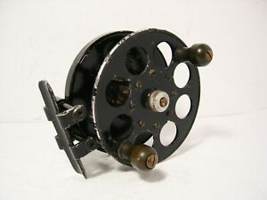 Vintage-K-Dowling-amp-Sons-Wide-Drum-Alloy-3-3-4-034-Centrepin-Fishing-Reel