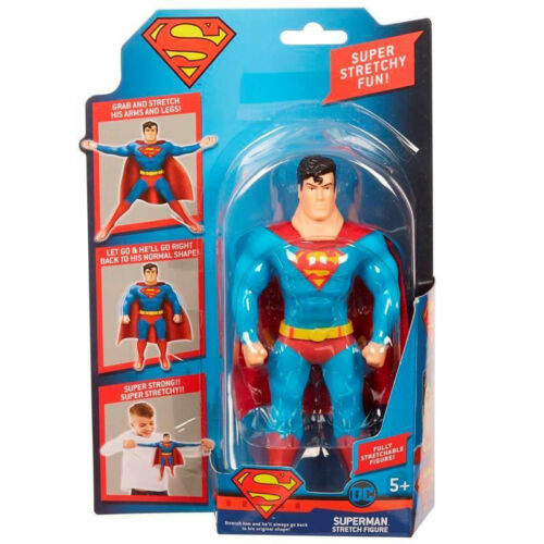 Character-DC Justice League 6 Pollici Figura Stretch-SUPERMAN-Nuovo di Zecca