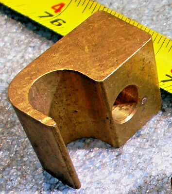 """BRASS CABLE WIRE PIPE TUBE C-HOOK HOLD DOWN BOLT DOWN CLAMP 1-1//2/"""" X1/"""" X3//4/"""" 1pc"""