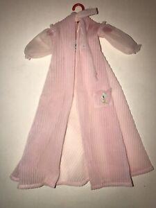 Vintage-1959-Mattel-NIGHTY-NEGLIGEE-Pink-Sheer-Bathrobe-Robe-965-BARBIE