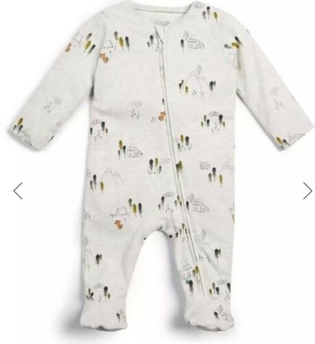 Mama/&Papas Jersey Zip All-in-one Size 6-9Months RRP£14
