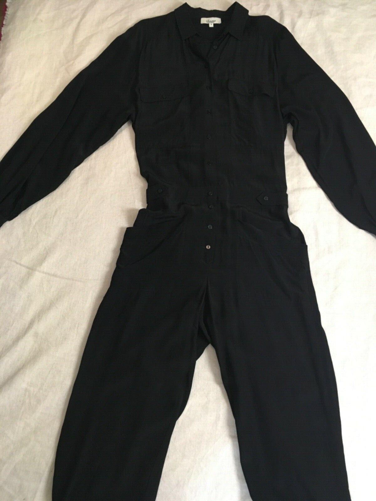 Nouvelle Somerset Alice Temperley schwarz Chemise à manches longues Pantalon Décontracté Combinaison 8