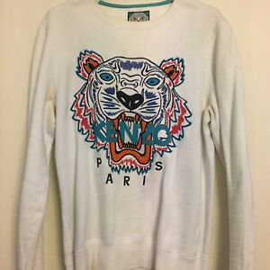 5a3f7a5891d ... Sweat-Kenzo-Tiger-Blanc-XS-Homme