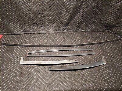 New 87-93 Mustang Outer Door Beltline Molding /& Seal 4 Piece Set Hatchback Coupe