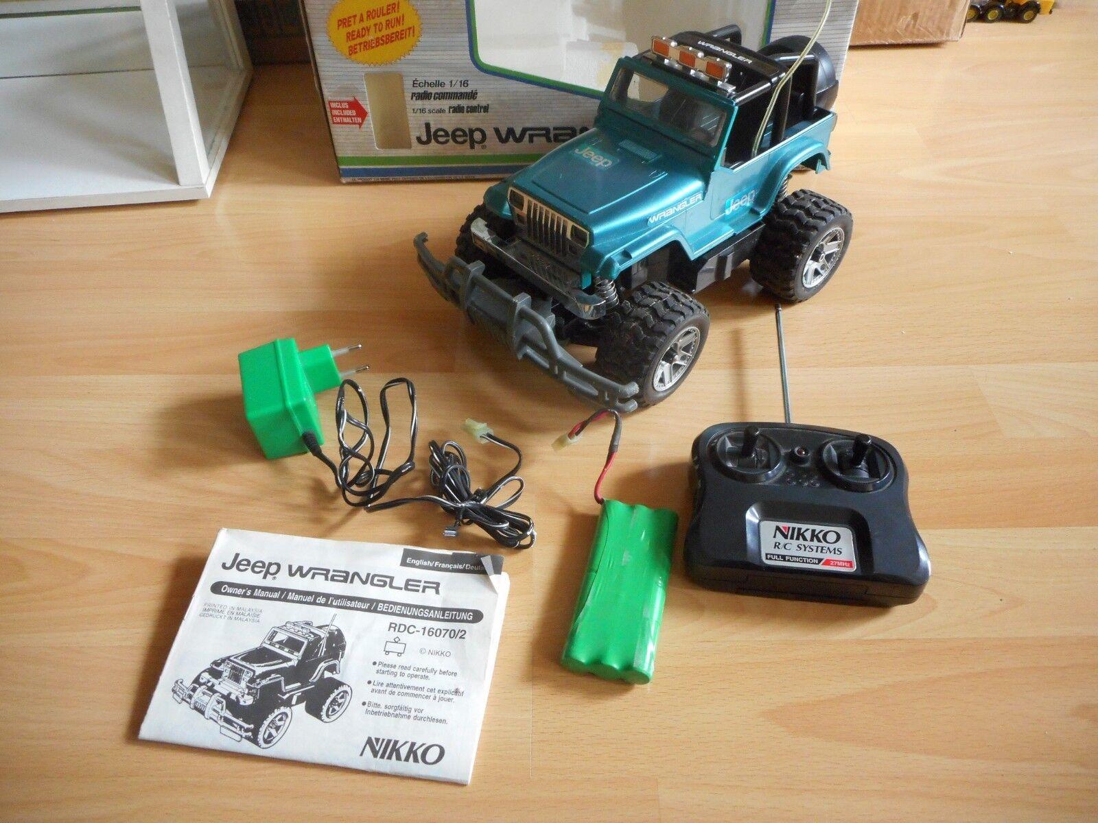 Nikko RC Jeep Wrangler in verde verde verde on 1 16 in scatola 78dbc6