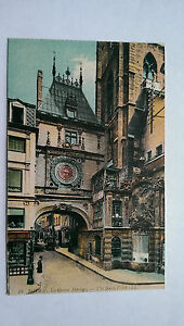 Vintage Rouen France colour cWW1 Postcard La Grosse Horlogue - Epsom, United Kingdom - Vintage Rouen France colour cWW1 Postcard La Grosse Horlogue - Epsom, United Kingdom