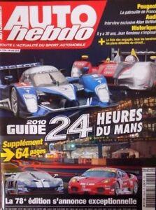 Auto Hebdo 1754 / 26 Mai 10 : Super Gt Japon Gp Turquie Kubica Chaud Et Coupe-Vent