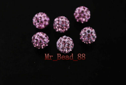 27Colors 10mm 20ps European Crystal Rhinestone Pave Clay Round Ball Finding Bead
