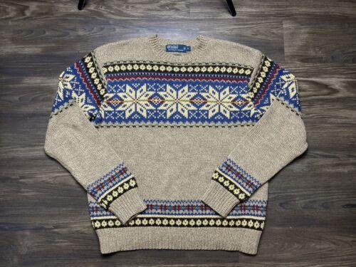 Polo Ralph Lauren Men's Large Crewneck Sweater Tan