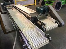 12wx9l Stainless Steel Frame Flush Grid Belt Conveyor 12hp Sm Cyclo Gearmotor