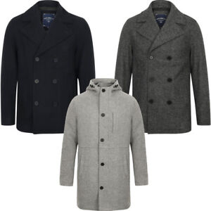 New-Mens-Tokyo-Laundry-Branded-Wool-Blend-Peacoat-Duffle-Coat-Size-S-XXL
