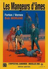 BOB MORANE HC N° + EX LIBRIS DESSIN ORIGINAL GÉRALD FORTON LES MANGEURS D'ÄMES