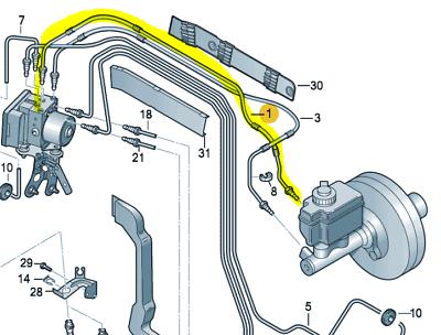 Audi A3 8P 2003-2013  Rear pair brake line