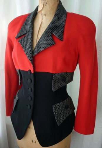 YT TRAVILLA Three Tone Fitted Jacket 80s