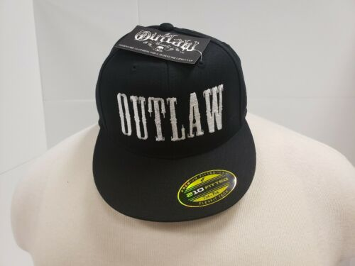 Outlaw Threadz Black Fitted Hat
