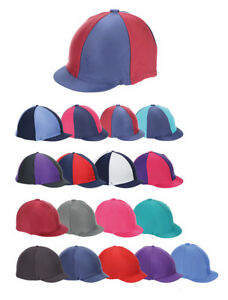 79ada1735 Details about Shires Riding Skull Hat Helmet Cover Silk Peaked Lycra  Stretch XC Colours (851)