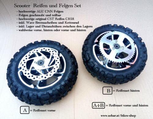 Reifen Felgen Set Scooter 6,5 Zoll geschraubte teilebar CNC Felge